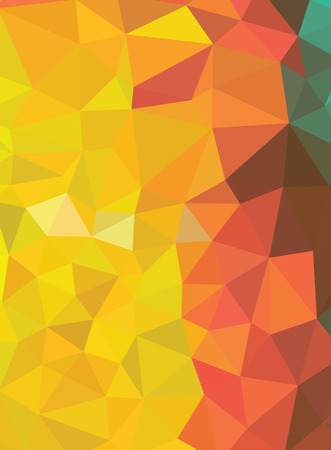 Red and yellow abstract geometric background consisting  triangles