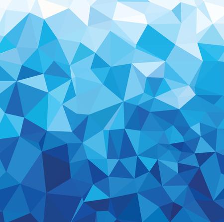 Blue Light Polygonal Templates Illustration