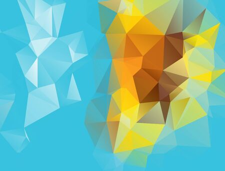 consisting: abstract background consisting of triangles Illustration