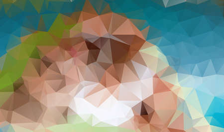 consisting: abstract background consisting of brown triangles