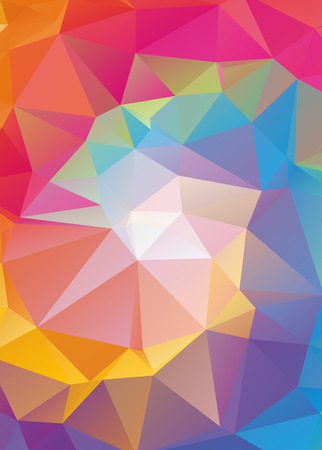 full color: Abstract Geometric backgrounds full Color Illustration