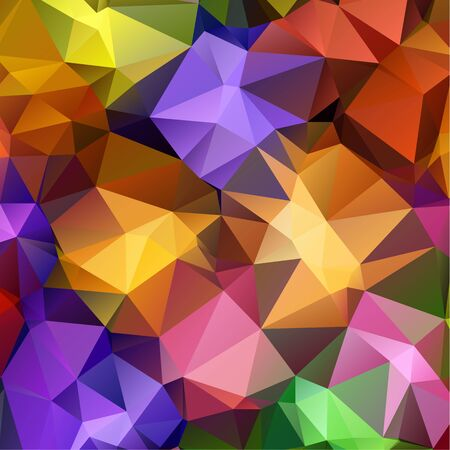 Dark multicolor polygonal illustration, which consist of triangles. Triangular design for your business. Geometric background in Origami style with gradient. Illustration