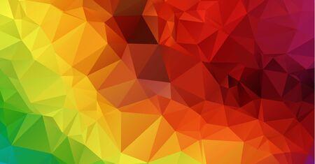 Multicolor polygonal illustration.Geometric background Triangular design in vector.