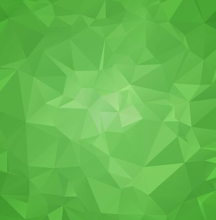 Green color. triangle mosaic polygon abstract background Light color design Illustration
