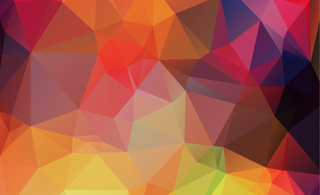 Polygonal abstract background consisting of triangles blue color. Ilustração