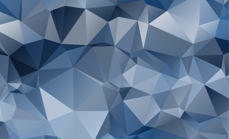 Polygonal abstract background consisting of triangles blue color. Illustration