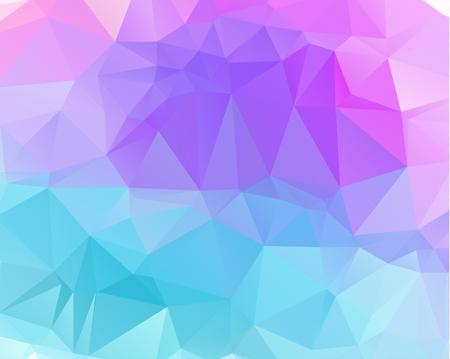 Veelkleurige paarse, roze veelhoekige illustratie, die uit driehoeken bestaat. Geometrische achtergrond