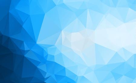 青い光多角形低ポリゴンの三角形パターン背景  イラスト・ベクター素材