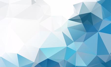 푸른 빛 다각형 낮은 다각형 삼각형 패턴 배경 스톡 콘텐츠 - 85424478