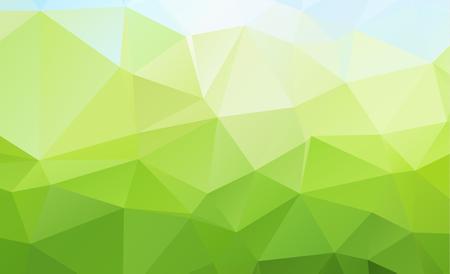 Abstract groen dat uit driehoeken bestaat. Geometrische achtergrond in Origamistijl met gradiënt. Driehoekig ontwerp voor uw bedrijf.