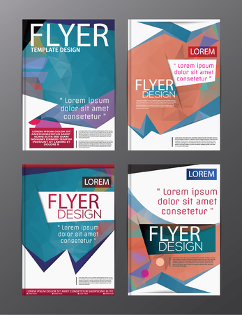 blank magazine: Layout design template annual report flyer leaflet modern background.