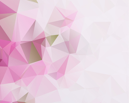 pink and black: Multi-color purple, pink polygonal illustration, which consist of triangles. Illustration
