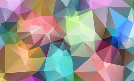 Polygonal abstract background consisting of triangles blue color