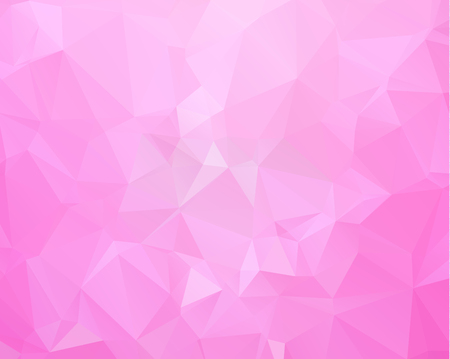 Multicolor purple, pink polygonal illustration, which consist of triangles. Geometric background  Ilustrace