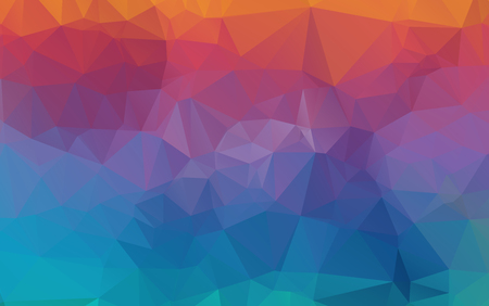 Light Orange vector polygonal illustration, which consist of triangles. Triangular design for your business. Creative geometric background