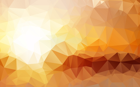 Light Orange polygonal illustration, which consist of triangles. Geometric background in Origami style with gradient. Triangular design for your business Ilustração