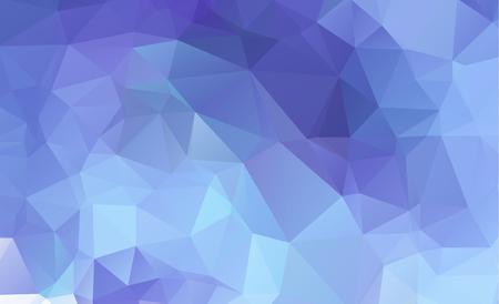Blue Light Polygonal Low polygon Triangle Pattern Background