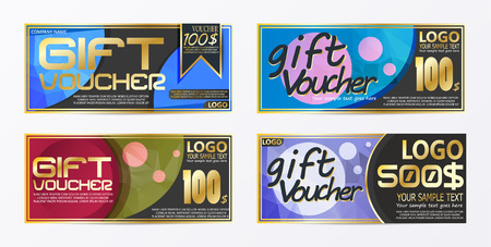 Gift certificate voucher coupon card background template Stock Vector - 94843579