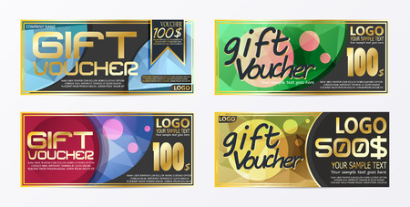 Gift certificate voucher coupon card background template.