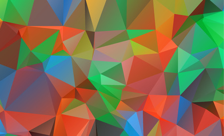 low poly geometric background consisting of triangles of different sizes and colors Vettoriali