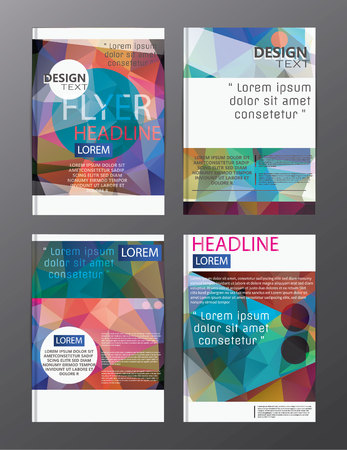 flyer design business annual report brochure template. cover presentation abstract background for business, magazines, 矢量图像