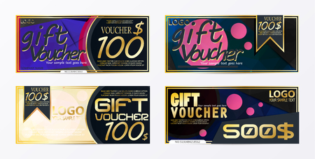 Gift voucher template card template with currency illustration abstract design illustration