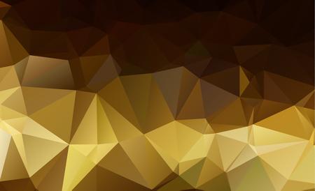 Light Orange Low poly crystal background. Polygon design pattern. Low poly illustration, low polygon background.