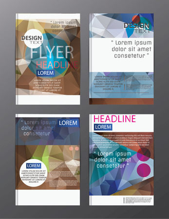 flyer design business annual report brochure template. cover presentation abstract background for business, magazines, Ilustração