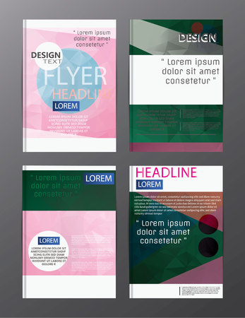 flyer design business annual report brochure template. cover presentation abstract background for business, magazines, Illustration