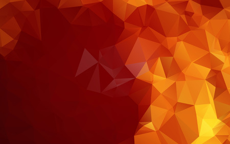 Light Orange polygonal illustration, which consist of triangles. Geometric background in Origami style with gradient. Triangular design for your business Çizim