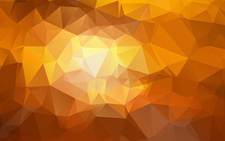 Light Orange polygonal illustration, which consist of triangles. Geometric background in Origami style with gradient. Triangular design for your business Ilustrace