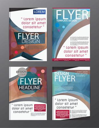 Polygon Modern Brochure Vector CMYK Modern A4