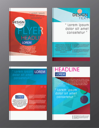 ulotki projekt biznesowy raport roczny szablon broszury. okładka prezentacji abstrakcyjne tło dla biznesu, czasopism,