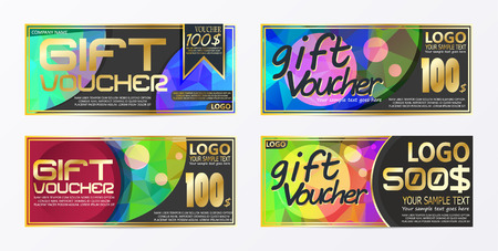 Gift certificate voucher coupon card background template Stock Vector - 126944685