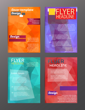 Vector Brochure Flyer Design Layout Templates. Abstract