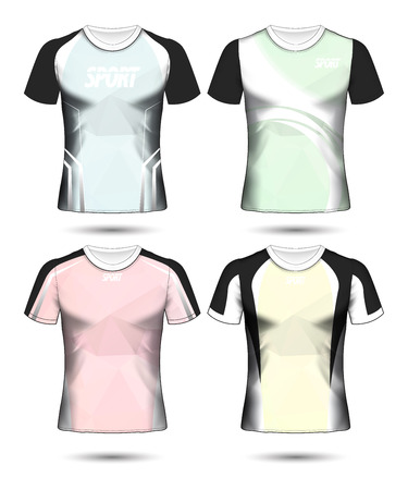 Set of Soccer sport t-shirt layout design poly template and polo shirt vector illustration