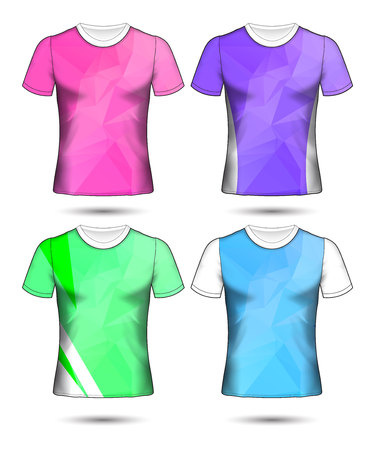 T Shirt Templates Abstract Geometric Collection Of Different Colors