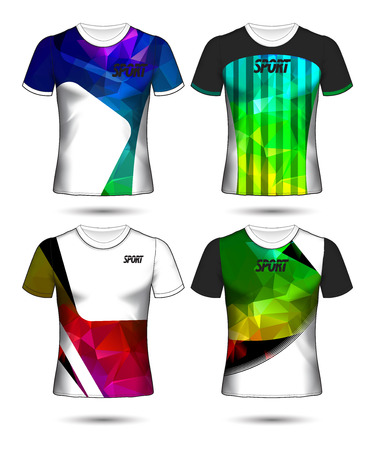 Set of soccer or football jersey template t-shirt style, Design your football club vector illustration