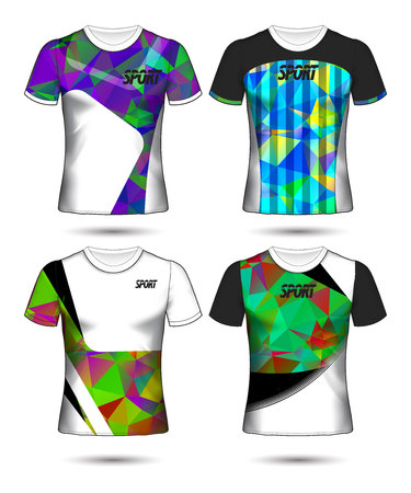 Set of soccer or football jersey template t-shirt style, Design your football club vector illustration Stockfoto - 125057000