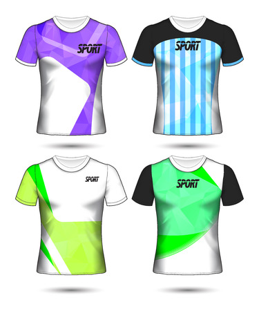 Set of soccer or football jersey template t-shirt style, Design your football club vector illustration Stockfoto - 125057005