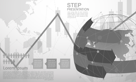 infographic Template for diagram gobal network connection. world map point Internet of Things, Computing Design technology Background