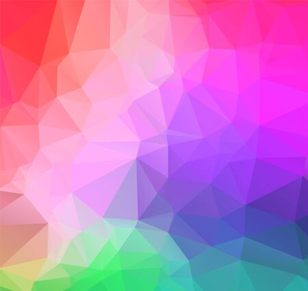 Hellpurpurner Vektorpolygonzusammenfassungshintergrund. Polygonal mit Farbverlauf. Texturmuster für Ihre Hintergründe Vektorgrafik