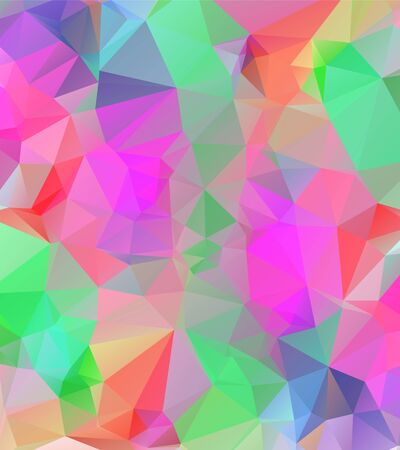 abstract background consisting of triangles, vector illustration   Vettoriali