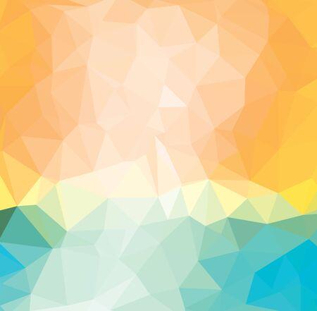 Hellgelbe Vektor-Dreieck-Mosaik-Vorlage