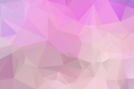 Fond abstrait géométrique moderne de vecteur rose clair, multicolore, modèle de mosaïque de triangle de vecteur arc-en-ciel