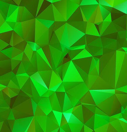 Abstrait vert émeraude multicolore. Illustrateur de conception polygonale de vecteur Vecteurs