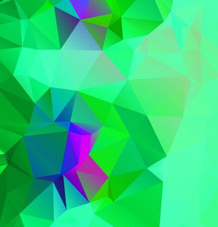 Abstract multicolor emerald green background. Vector polygonal design