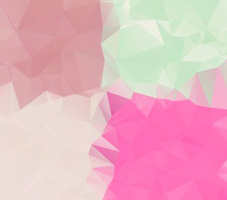 abstract background consisting of triangles, vector illustration   Stock Illustratie