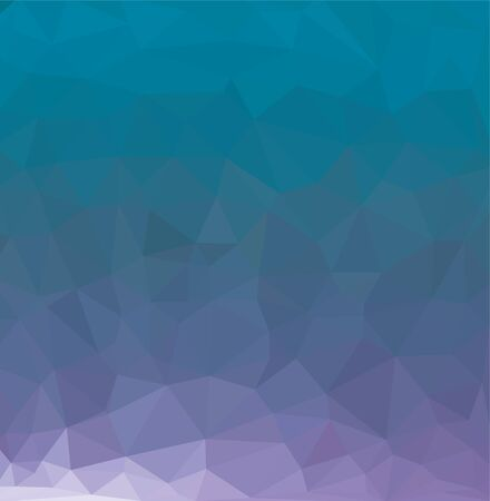 Abstract low poly background of triangles in blue colors Stock Illustratie