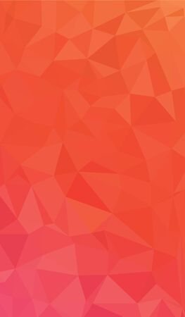 Light Orange vector modern geometric abstract background  , Multicolor, Rainbow vector triangle mosaic template Stock Illustratie